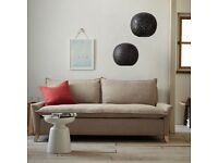West Elm Sofa with matching oversized Armchair and footstool