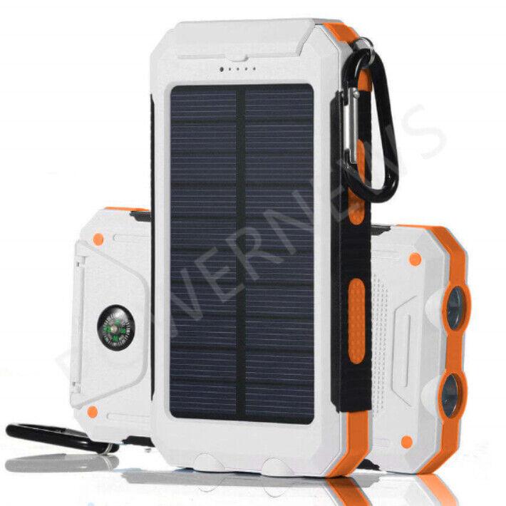 Waterproof Solar Power Bank 900000mAh Portable External Batt