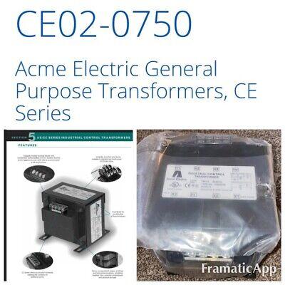 Acme Eléctrico Industrial Control Transformador CE020750 Ce Serie Clase 105 ~
