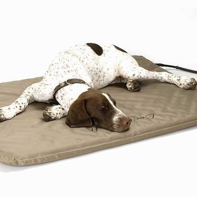 K&H Large Indoor/Outdoor Soft Lectro Heated Dog Bed Mat Free Fleece Cover KH1090