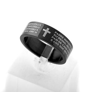 Spanish Bible: The Lord's Prayer Cross Ring