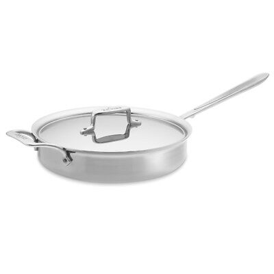 All-Clad d5 Brushed 5-ply Stainless-Steel 3-Qt Sauté Pan, with lid