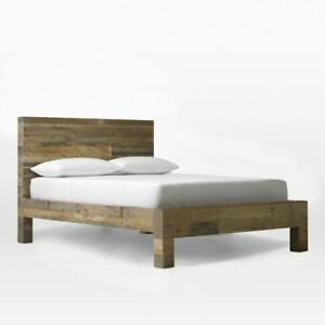 "West Elm  ""Emmerson"" Queen Size Bed Frame and two nightstand"