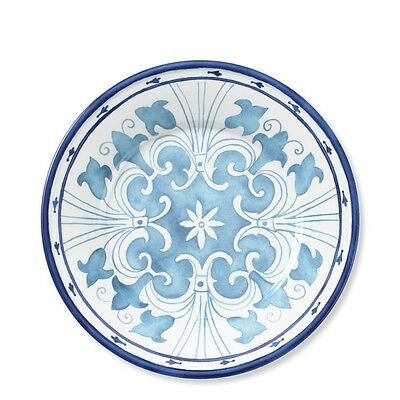 set/4 Williams Sonoma Coastal Blues salad plates,melamine,new,dessert,9