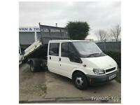2004 FORD TRANSIT 2.4TD 350 LWB DOUBLE CREW CAB TIPPER SPARES OR REPAIR EXPORT