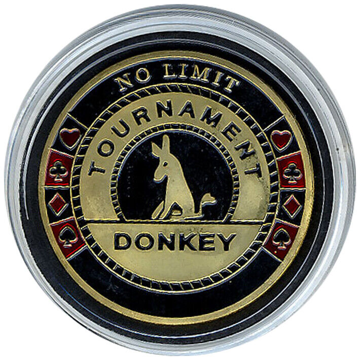 Card Guard - Tournament Donkey GOLD Poker Protector *