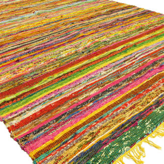 Beautiful Recycled Fabric Rag Rugs (Made in India!)