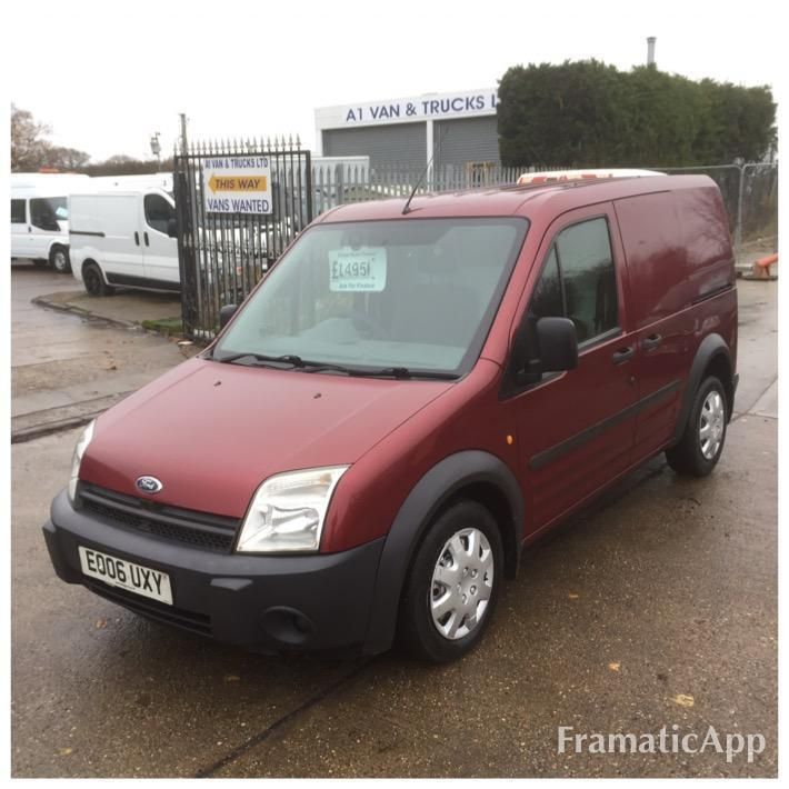7d3016de98 2006 06 FORD TRANSIT CONNECT 1.8 TDDI 75PS T200 SWB PANEL VAN RED WITH AIR  CON