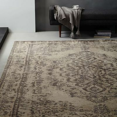 New West Elm Distressed Arabesque 6  X 9  Wool Rug Neutral Pottery Barn