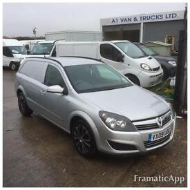 2009 09 VAUXHALL ASTRA VAN 1.7CDTi 16v SPORTIVE IN SILVER AIR CON NO VAT TO PAY
