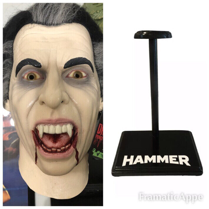 HAMMER HORROR DRACULA Mask Trick Or Treat Studios ! 🔥 + HAMMER DISPLAY STAND