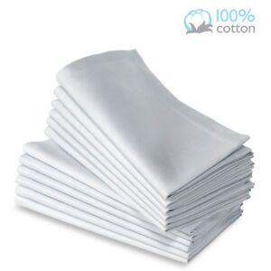 2 New premium white 100% cotton restaurant wedding dinner cloth napkins 20x20