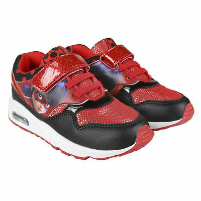 Sneaker LadyBug Marienkäfer Mädchenschuhe Sportschuhe Laufschuhe Schwarz/Rot - Marienkäfer Kind Schuhe