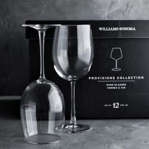 Williams Sonoma - Provisions Stemmed Wine Glasses, Set of 12
