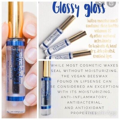 LIPSENSE GLOSS Lipstick 💄 GLOSSY GLOSS (clear) Full Size .25 tube **NEW  SEALED