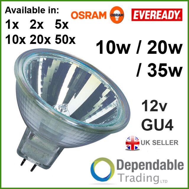 Packs of BRANDED MR11 10w 20w 35w Halogen Spotlight Lamp 12v GU4 35mm Light Bulb