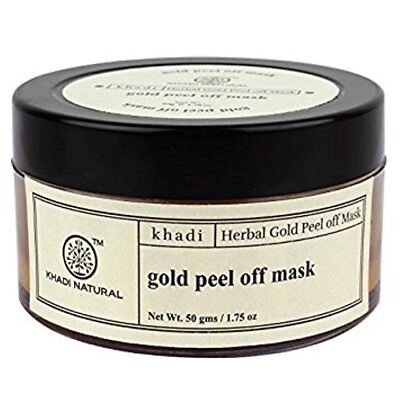 Khadi Natural Herbal Gold Peel Off Mask Best For Tighten the Pores (Best Pore Peel Off Mask)