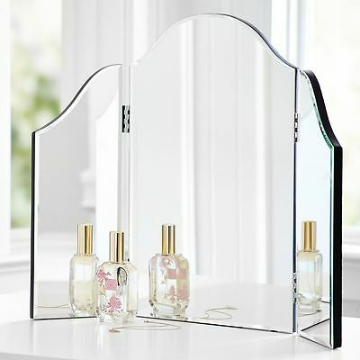 Venetian Style Trifold Mirror Vanity Table Top Makeup Dressing 3 Dressing Glass