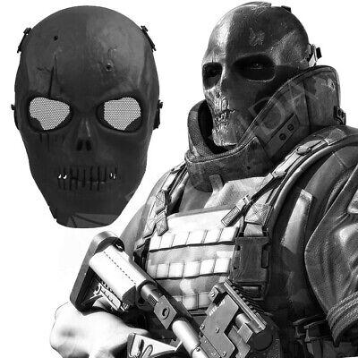 Paintball Maske Totenkopf Skull Softair Schutz Tarnung Militär Zombie Kostüm - Zombie Militär Kostüm