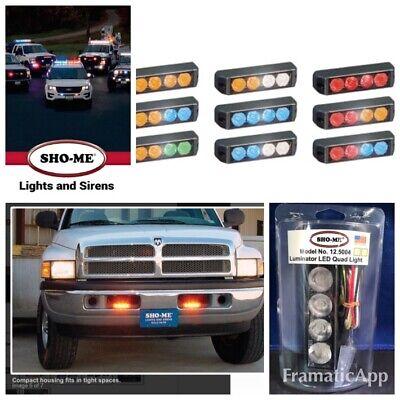 Sho-me 12.5004 Led Quad Light Kit Self Flash 5 Colors Red Amber Pattern Read