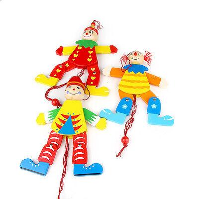 Hampelmann Clown Zieher Ziehfiguren Holz Kleinkind Holzspielzeug Deko Kinder neu