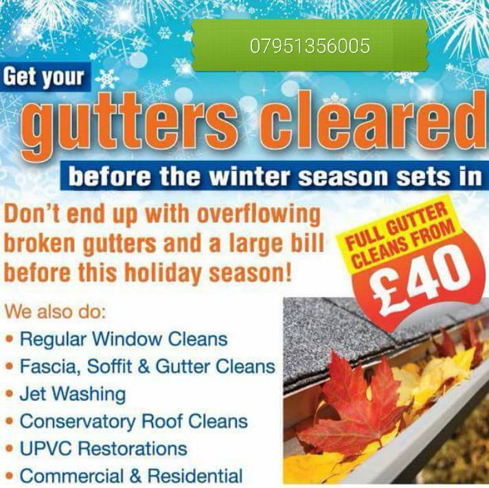 Gutter cleaning and patio jetwashing driveways 20% Off Competitive prices