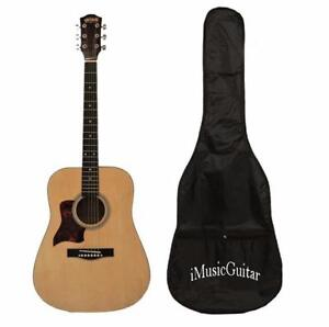 Christmas Gift ! Left handed Acoustic Guitar with Soft bag 41 inch iMusic579L