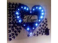 Canvas with led lights 3D