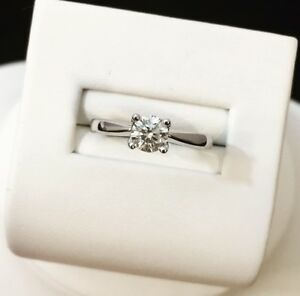14K Gold Diamond Solitaire Engagement Ring *Certified at $3,000
