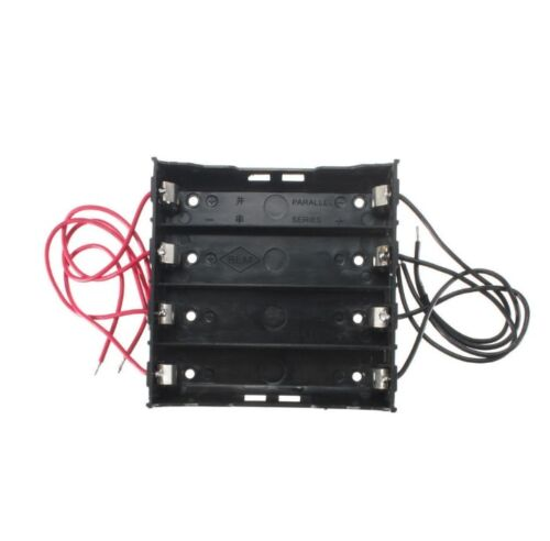 NEW Plastic Battery Holder Storage Box Case For 4x 18650 Rechargeable Battery