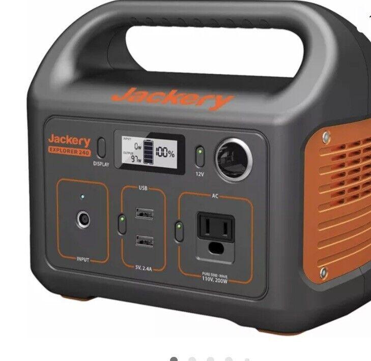 Jackery Portable Power Station Explorer 240, 240Wh Backup Lithium Battery, 110V/