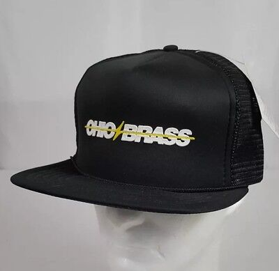 Vtg K-Studio Pocket Cap Ohio Brass Mesh Trucker Hat Cap Black NOS with Tag  Ohio Mesh Cap