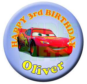 DISNEY-CARS-PERSONALISED-BIRTHDAY-BADGE-58mm