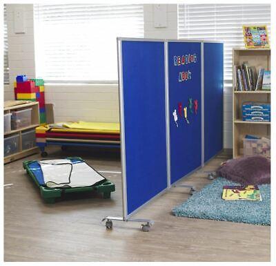 Ecr4kids Mobile Flannel Felt Room Divider Partition Double-sided 3-panel