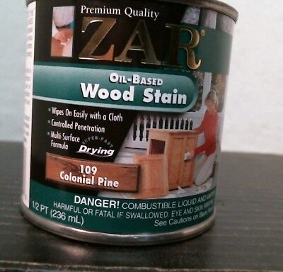 Zar 109 Colonial Pine Oil-Based Wood Stain, 1/2 Pint, FREE SHIPPING ()