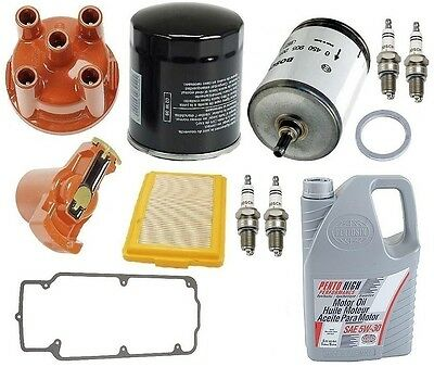 For BMW E30 318i 1984-1985 Tune Up Kit Filters Air &Fuel Plugs & Oils Best
