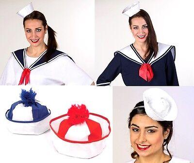 Matrosenkragen blau/weiß + Matrosenmütze Kostüm Seemann Matrose Marine - Marine Blau Seemann Kostüm
