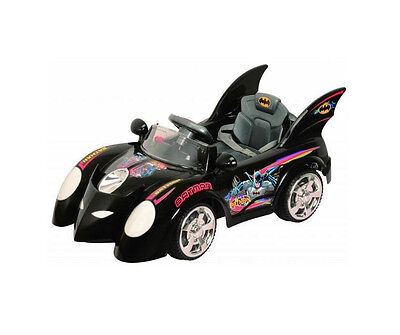 Black Batmobile Official Batman Ride On Car 6v 10Ah Battery Power R/C Wheels