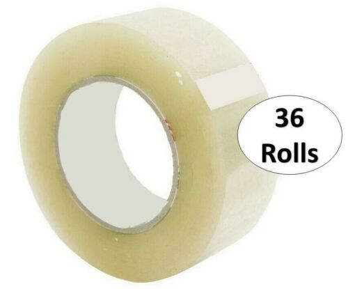 """Closeout Special Transparent Gift Wrap Tape 3/4"""" x 1000"""" Almost FREE (36 Rolls)"""