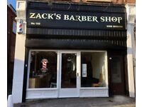 *** ZACK'S BARBER SHOP- FEMALE HAIRDRESSER/BARBER WANTED IN LONDON, E18 ***