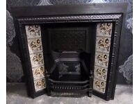 Stunning Reclaimed Vintage Cast Iron Fireplace Fire Insert for Real or Gas Fire Delivery