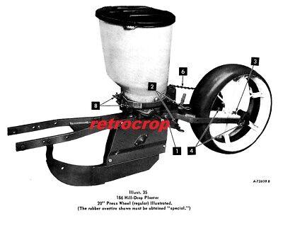186 Mccormick Ih Farmall Super A Runner Corn Planter Manual 1pt Cub Tractor 2pt