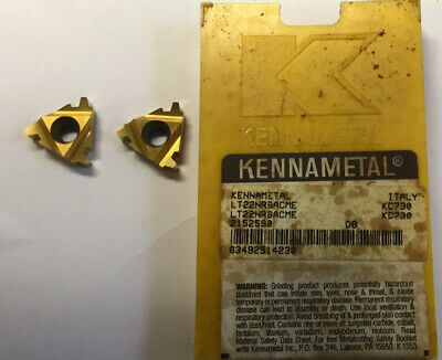 Kennametal Lt22nr6acme New Carbide Inserts Grade Kc730 2 Pcs
