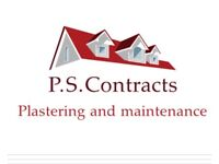 P.S Contracts. Plastering and property maintenance