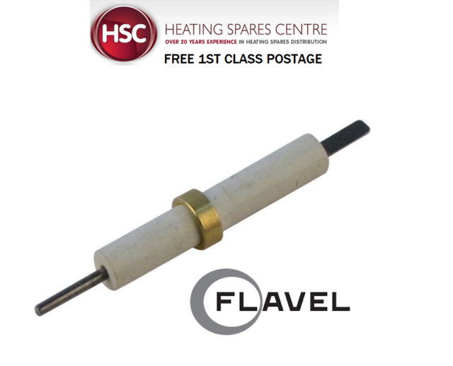 FLAVEL CALIBRE - BF, EFC & RC CHROME & BRASS GAS FIRE ELECTRODE 7036290 70-36290