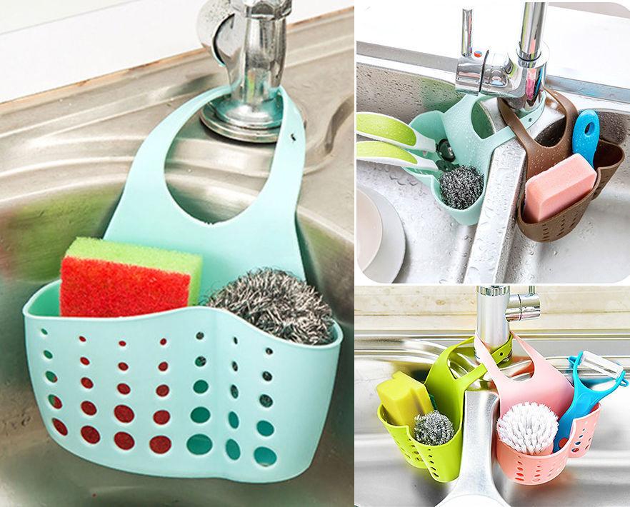 Details about USA Kitchen Sink Storage Basket Sponge Holder Kitchen  Organizing Hook
