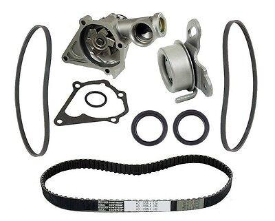 Timing Belt Tensioner Roller Water Pump Seals Kit For Hyundai Excel 90-94 L4 1.5 on sale