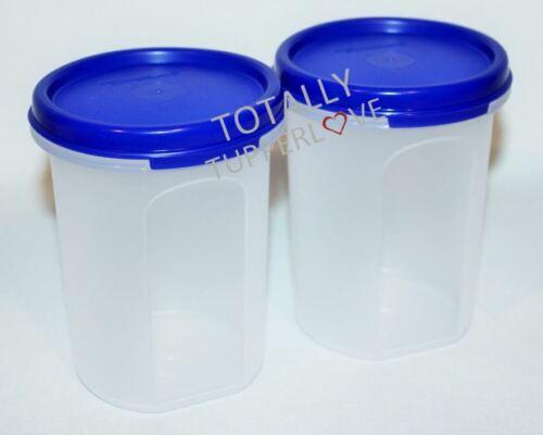 Tupperware Set of 2 Modular Mates #2 Rounds 15 oz. Blue Seals ❤️