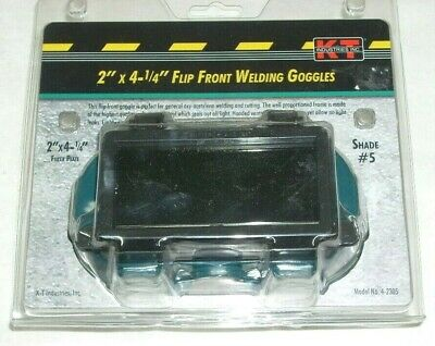 Kt Industries 4-2305 Welding Cutting Goggles 2 X 4 14 Flip Front Soft Shade 5