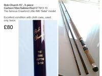 Salmon and trout rods for sale, as good as new